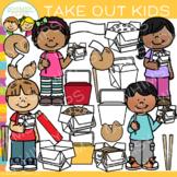 Kids Takeout Clip Art