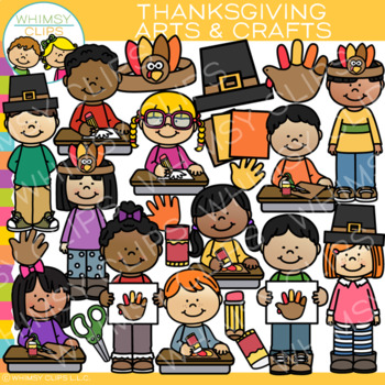 Kids Thanksgiving Arts and Crafts Clip Art
