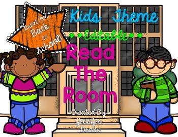 Kids Theme Read the Room EDITABLE