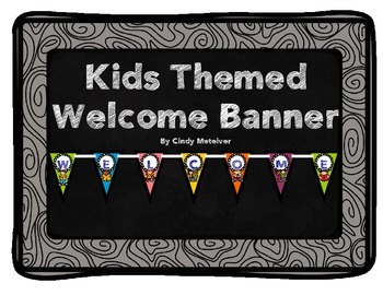 Kids Themed Welcome Banner