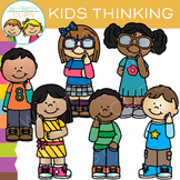 Thinking Kids Clip Art