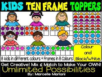 Kids Toppers Ten Frames Clip art
