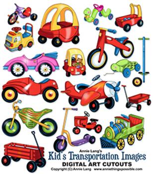 Kids Transportation Images Clipart