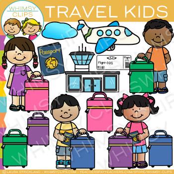 Kids Travel Clip Art