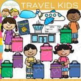 Kids Air Travel Clip Art