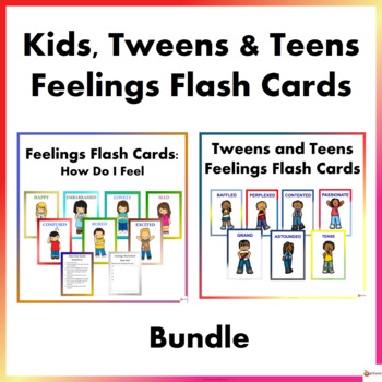 Kids, Tweens and Teens Feeling Flash Cards Bundle