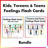 Kids, Tweens and Teens Feeling Flash Cards Bundle