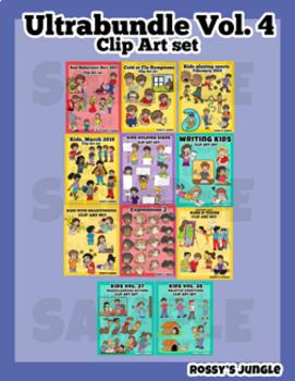 Kids ULTRABUNDLE Clip Art Vol 4