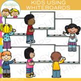 Kids Using Whiteboards Clip Art