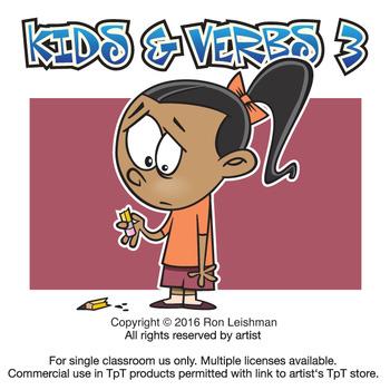 Kids & Verbs Cartoon Clipart Vol. 3