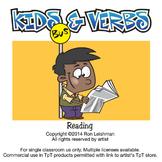Kids & Verbs Cartoon Clipart | Verbs clipart for ALL grades