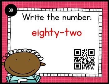 SCOOT Kids What's My Number? - w/ QR codes Write number word as a numeral - CCSS
