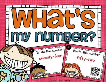 SCOOT Kids What's My Number? - w/ QR codes Write number wo