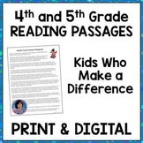 Reading Passages 4rd & 5th Grades: Distant Learning ELA  {Google Classroom™}