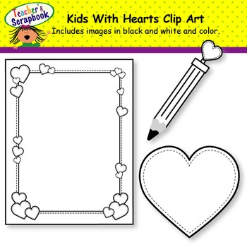 Kids With Hearts Clip Art