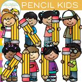 Pencil Kids Clip Art