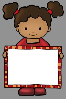 Kids With Signs 2 Clip Art