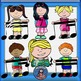 Kids With music notes 2- Color and B&W