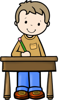 Kids Writing At Desks Clip Art - Whimsy Workshop Teaching