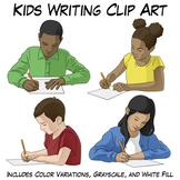 Kids Writing Clip Art