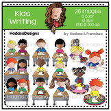Kids Writing Clip Art Set