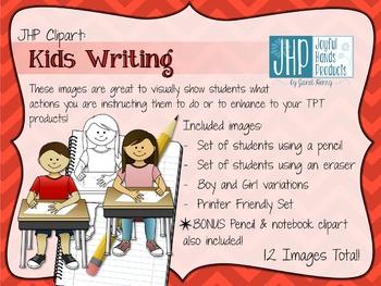 Kids Writing Clipart