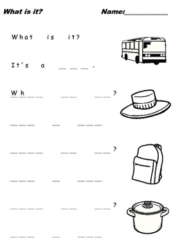 "Kids Writing Practice ""What is it?"" Q&A 3 Letter Words III"