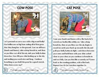 Kids Yoga Beginner Poses--Real Photos and Printable or Electronic Formats!