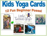 Kids Yoga Beginner Poses--Real Photos and Printable or Ele