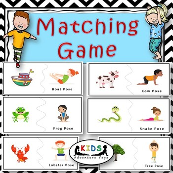 yoga matching game  brain break activitykids