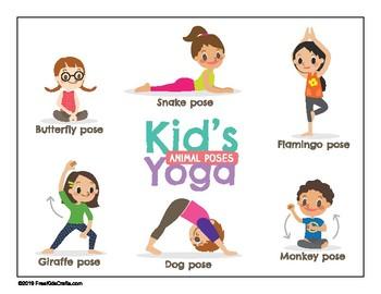 kids' yoga posesyouthstrong  teachers pay teachers