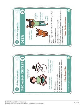 Kids Yoga Winter Sequence Lesson Plan, Pose Card Deck & Journal