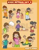 Kids action set 4 - Behavior and actions Assortment clip art