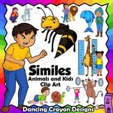 Kids and Animal Similes Clip Art | Figurative Language