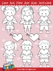Kids and Hearts Clip Art