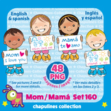 Kids and Mother's day Clipart, Mamá, Día de las Madres, PNG, Set 160