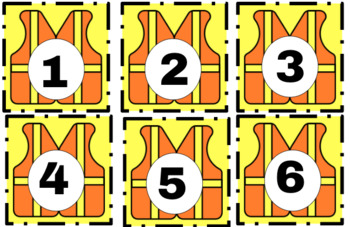 Kids at Work Construction Theme Student Numbers