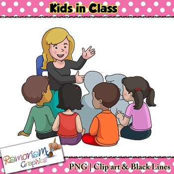 Kids at work in school Clip art