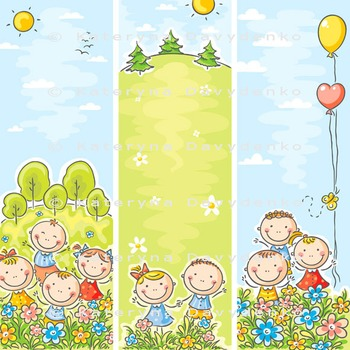 Kids banners - vertical and horizontal