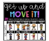 Kids brain break movement cards