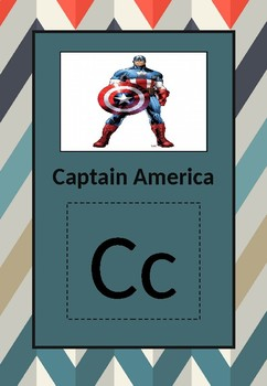 Kids cartoon alphabet posters