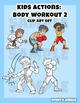 Kids clip art: Body Workout 2, exercise, martial arts, actions
