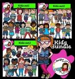 Kids clip art Bundle- Color and B&W
