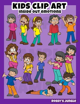 Kids clip art: 'Inside Out' inspired emotions