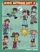 Kids clip art action set 2 - Illness, malaise, ailment sic