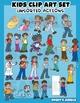 Kids clip art set- Unsorted actions