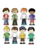Kids clipart 32 files+black white outlines