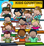 Kids counting set2 clip art