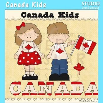 Canada Kids Color Clip Art C. Seslar