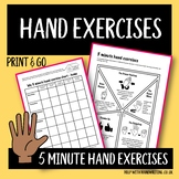 Kids hand exercises to relieve muscle tension when writing